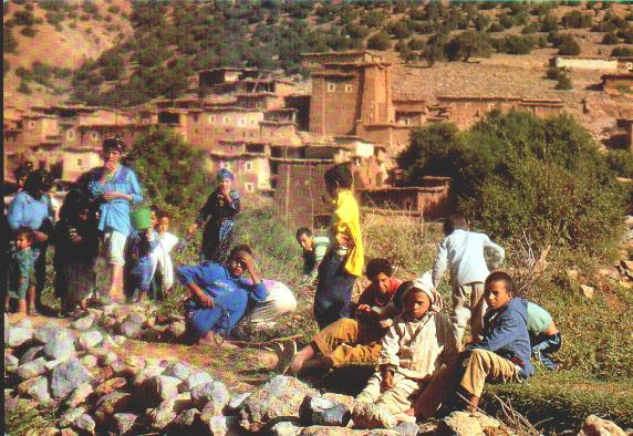 village with young people