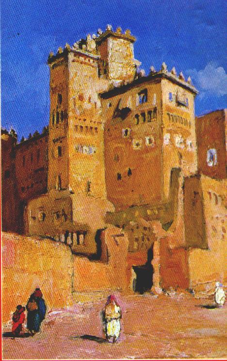 kasbah, according to a painting